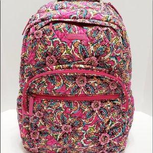 Vera Bradley large quilted essential backpack pink